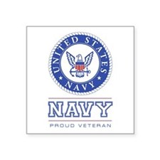 Navy - Proud Veteran Sticker