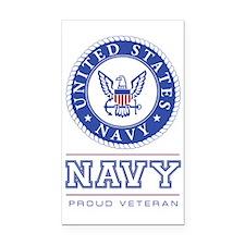 Navy - Proud Veteran Rectangle Car Magnet