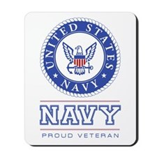 Navy - Proud Veteran Mousepad