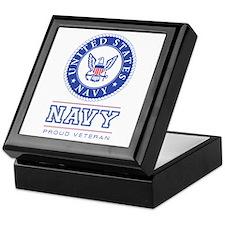 Navy - Proud Veteran Keepsake Box