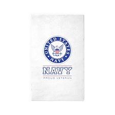 Navy - Proud Veteran 3'x5' Area Rug