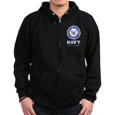 Navy - Proud Veteran Zip Hoodie