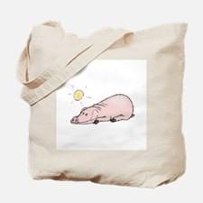 Funny Pig in the Sun Tote Bag