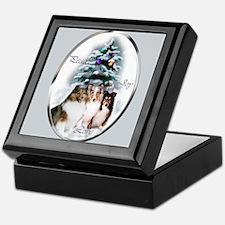 Shetland Sheepdog Christmas Keepsake Box