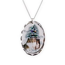Shetland Sheepdog Christmas Necklace