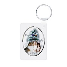 Shetland Sheepdog Christmas Keychains