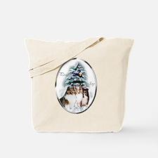 Shetland Sheepdog Christmas Tote Bag