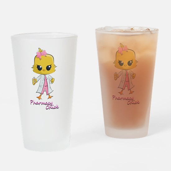 Pharmacy Chick Drinking Glass