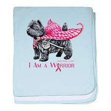 Cairn Cancer Warrior baby blanket