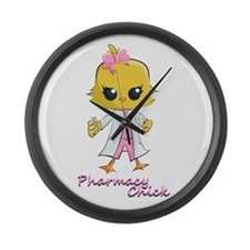 Pharmacy Chick Large Wall Clock