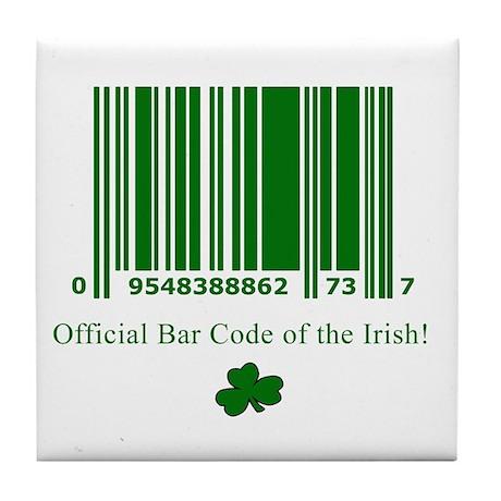 Irish Bar Code Tile Coaster