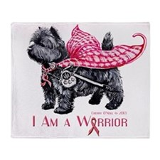 Carin Cancer Warrior Throw Blanket