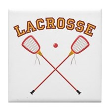 Lacrosse Sticks Tile Coaster