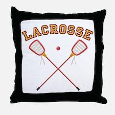 Lacrosse Sticks Throw Pillow