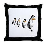Penguin Parade Throw Pillow