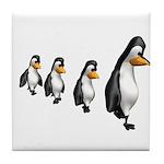 Penguin Parade Tile Coaster