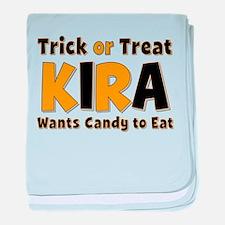 Kira Trick or Treat baby blanket