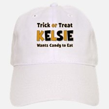 Kelsie Trick or Treat Baseball Baseball Baseball Cap