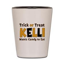 Kelli Trick or Treat Shot Glass