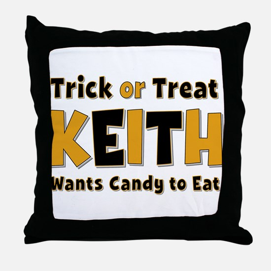 Keith Trick or Treat Throw Pillow