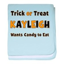 Kayleigh Trick or Treat baby blanket