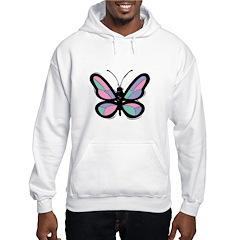 Pretty Pastel Butterfly Hooded Sweatshirt