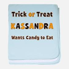 Kassandra Trick or Treat baby blanket