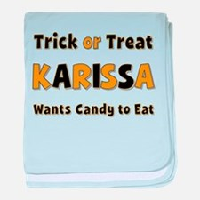 Karissa Trick or Treat baby blanket