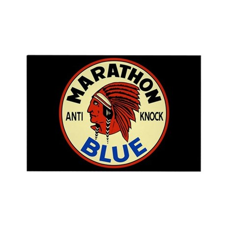 Marathon Blue Rectangle Magnet