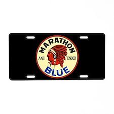Marathon Blue Aluminum License Plate