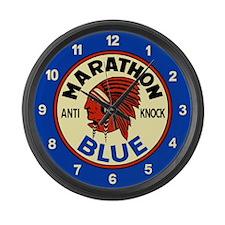 Marathon Blue Large Wall Clock