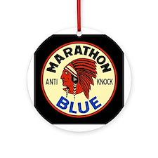 Marathon Blue Ornament (Round)