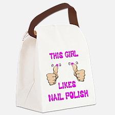 This Girl Likes Nail Polish Canvas Lunch Bag