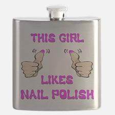 This Girl Likes Nail Polish Flask