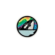 Orca Killer Whale Circle Design Mini Button