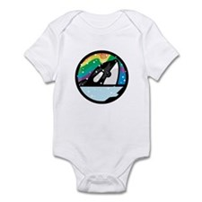 Orca Killer Whale Circle Design Infant Bodysuit