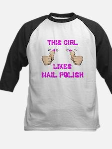 This Girl Likes Nail Polish Kids Baseball Jersey
