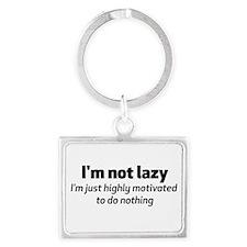 I'm Not Lazy Landscape Keychain
