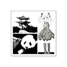 """Lost in china Square Sticker 3"""" x 3"""""""