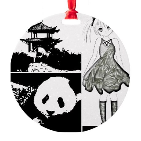 Lost in china Round Ornament