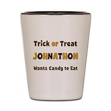 Johnathon Trick or Treat Shot Glass