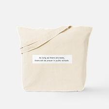 School Prayer Tote Bag