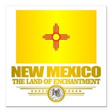 "New Mexico Flag Square Car Magnet 3"" x 3"""