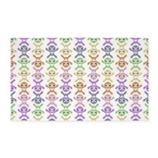 Baby Rainbow Sloths 3'x5' Area Rug