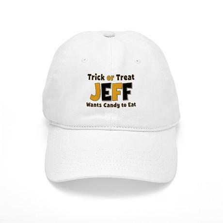 jeff trick or treat baseball baseball cap by namestuff tot aj