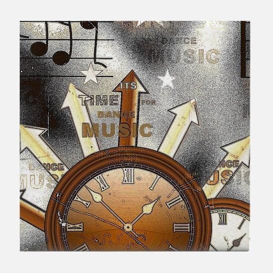 Vintage Music Tile Coaster