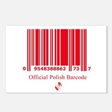 Polish Bar Code Postcards (Package of 8)