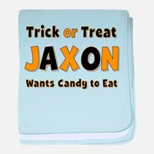 Jaxon Trick or Treat baby blanket