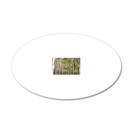 Aspen Forest 20x12 Oval Wall Decal