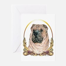 Chinese Shar Pei Holiday Greeting Cards (Package o
